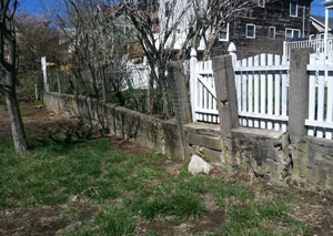 a retaining wall installed in Chicopee