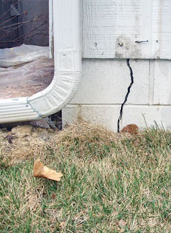 foundation wall cracks due to street creep in Auburn
