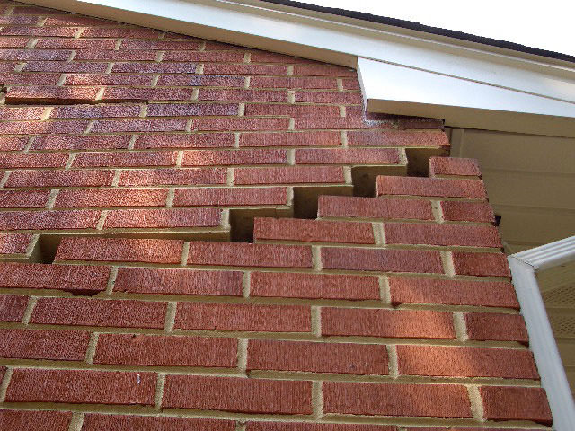Foundation Repair Products Ilration Serious Damage To A Wall Due Settlement Of Home In Southbridge