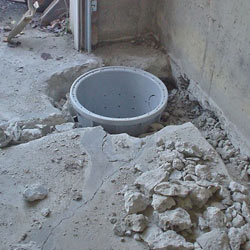 Placing a sump pit in a Westborough home