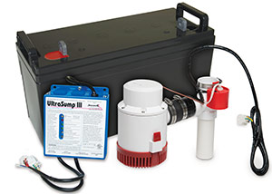 a battery backup sump pump system in Putnam